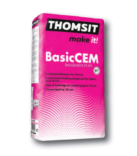 Thomsit PCI BasicCEM Zementspachtelmasse zum Ausgleichen im Wohnbereich 25kg