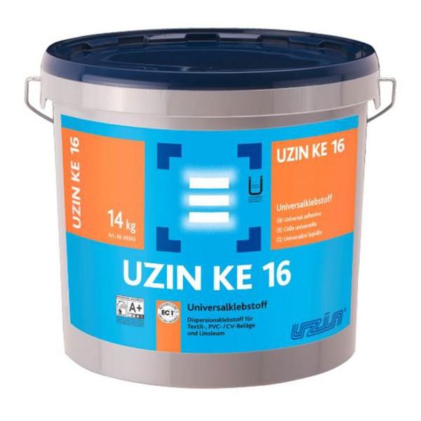UZIN KE 16 Dispersionsklebstoff für Textil- und PVC-Beläge sowie Linoleum auf Bodenchemie.de