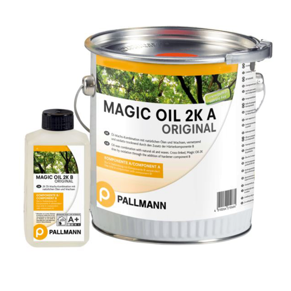 MAGIC OIL 2K ORIGINAL High-Solid 2-Komponenten Parkettöl 1L auf DeinBoden24.de