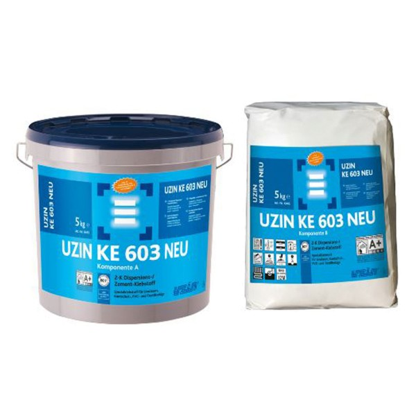 UZIN KE 603 Selbsttrockender Dispersions-Zement-Klebstoff für Bodenbeläge auf Bodenchemie.de