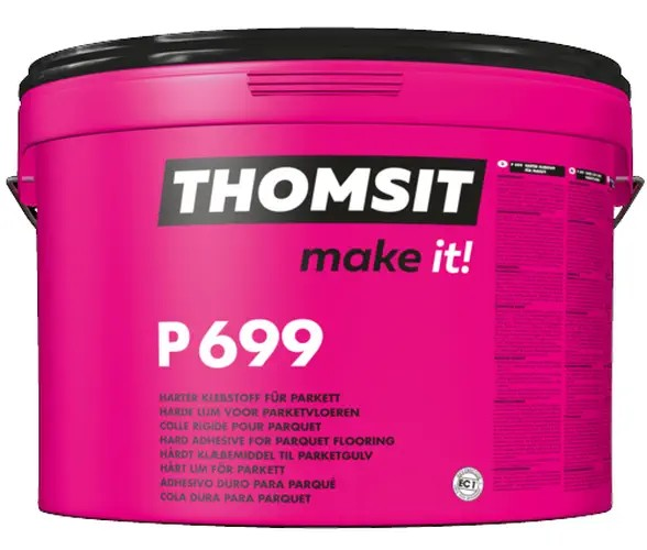 Thomsit PCI P 699 1-K-SMP-Parkettklebstoff mit schubfester, harter Klebstoffriefe 16kg