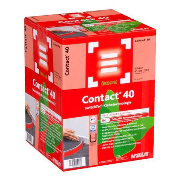 Uzin switchtec Contact 40 Spezial-Sockelband für Bodenbelagsstreifen in DÖLLKEN Kernsockel auf Bodenchemie.de