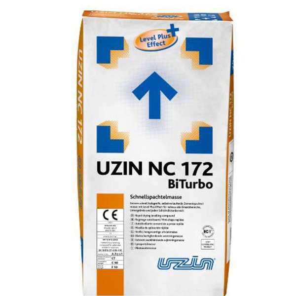 UZIN NC 172 BiTurbo Extrem schnell belegreife, selbstverlaufende Zementspachtelmasse mit Level Plus Effect auf Bodenchemie.de